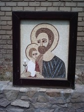 Mosaic  St Joseph and  Child Jesus
